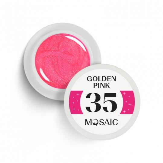 35. Golden pink