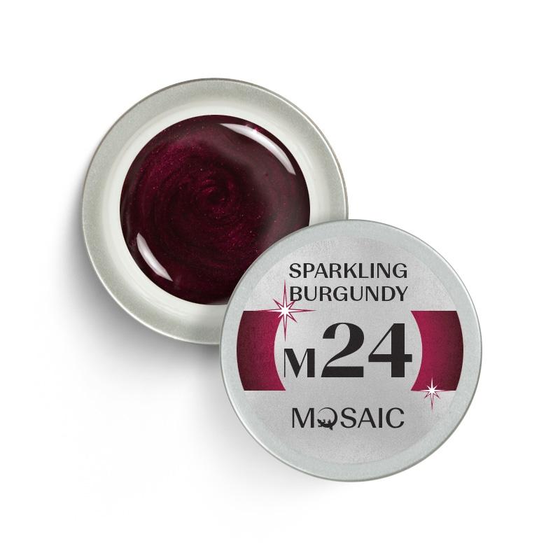 M24. Sparkling burgundy