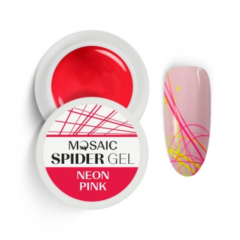 Spider geel Neoon roosa
