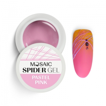 Spider geel Pastel roosa