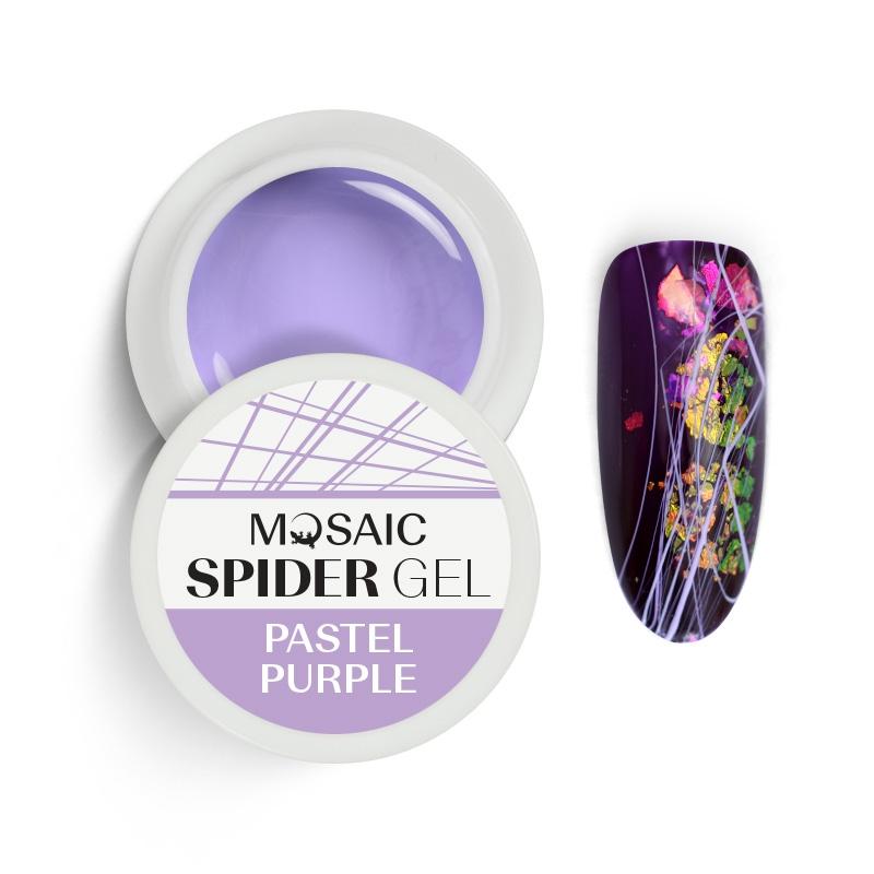 Spider geel Pastel lilla