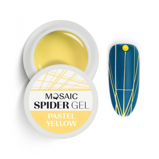 Spider gel Pastel yellow