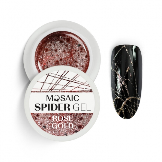 Spider gel Rose gold