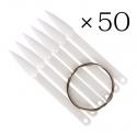 Stiletto nail chart 50 pcs