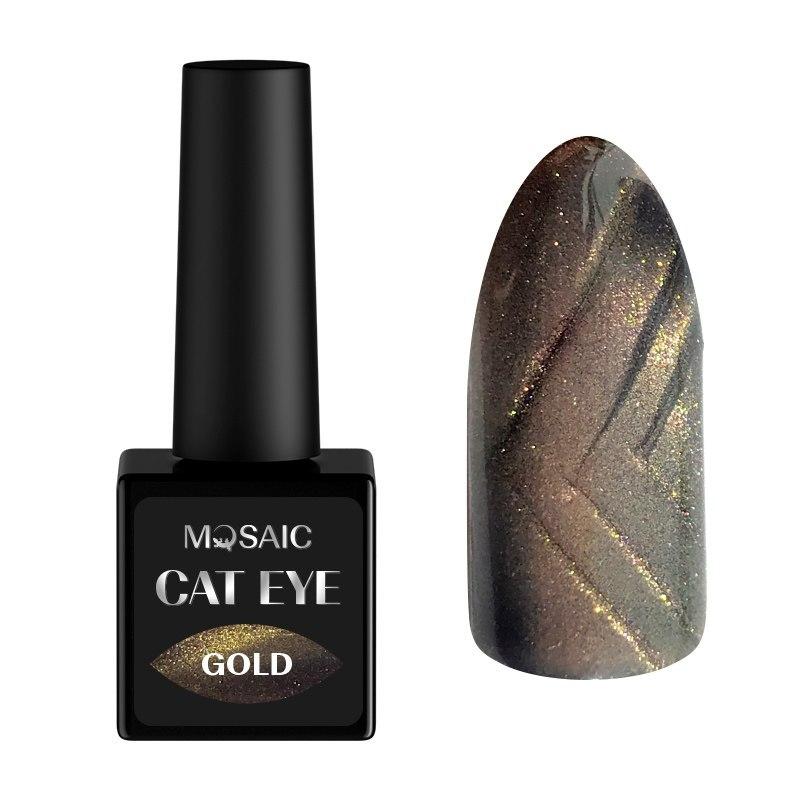 Gold Cat eye gel polish