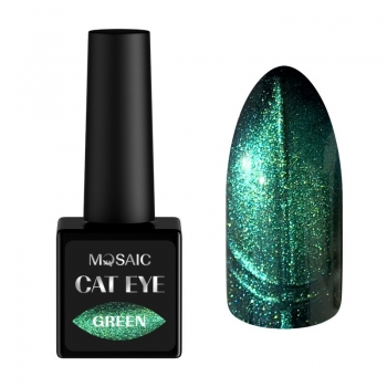 Green cat eye gel polish