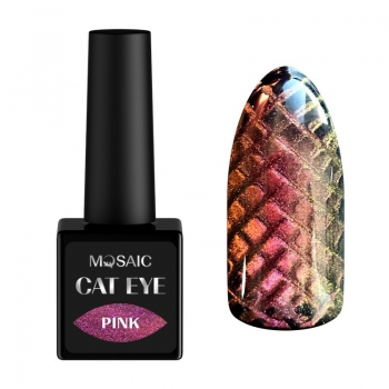 Pink cat eye gel polish