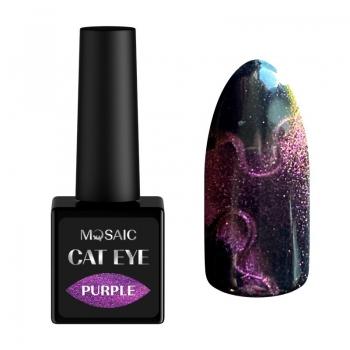 Purple cat eye gel polish
