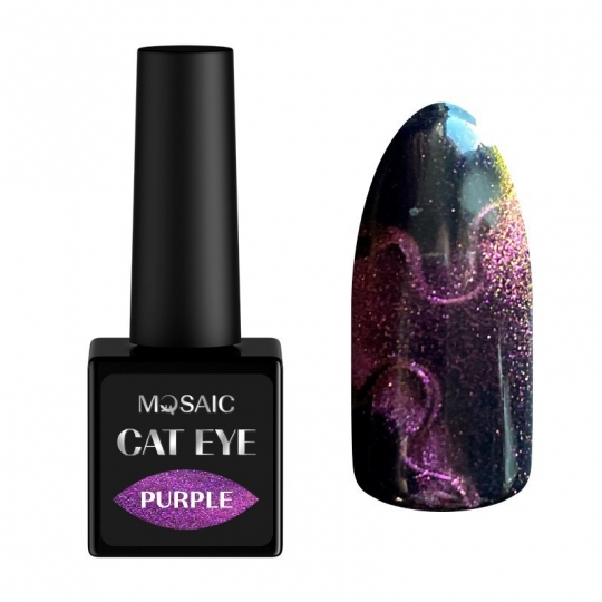 Purple cat eye gel polish