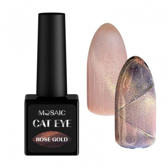 Rose gold cat eye gel polish