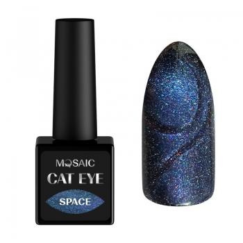 Space cat eye gel polish