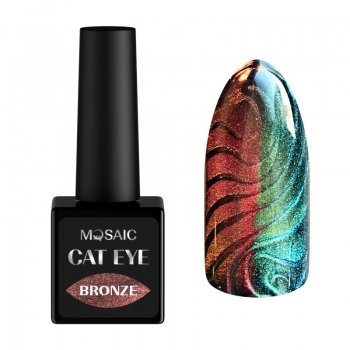 Bronze cat eye gel polish