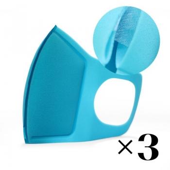 Многоразовая маска с фильтром. Синяя x3