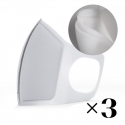 Reusable mask with filter. White x3
