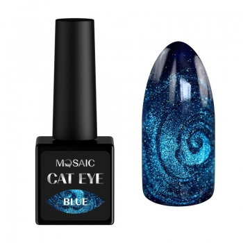 Blue cat eye gel polish