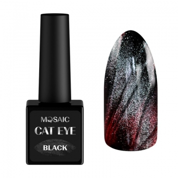 Black cat eye gel polish