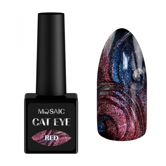 Red cat eye gel polish