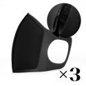 Reusable mask with filter. Black x3