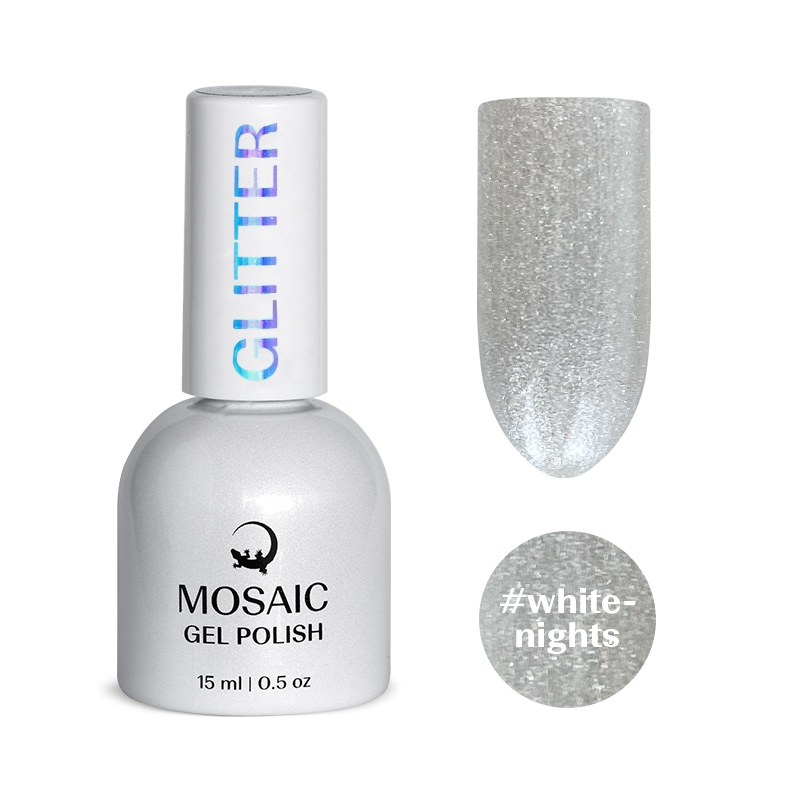 White nights gel polish 15 ml