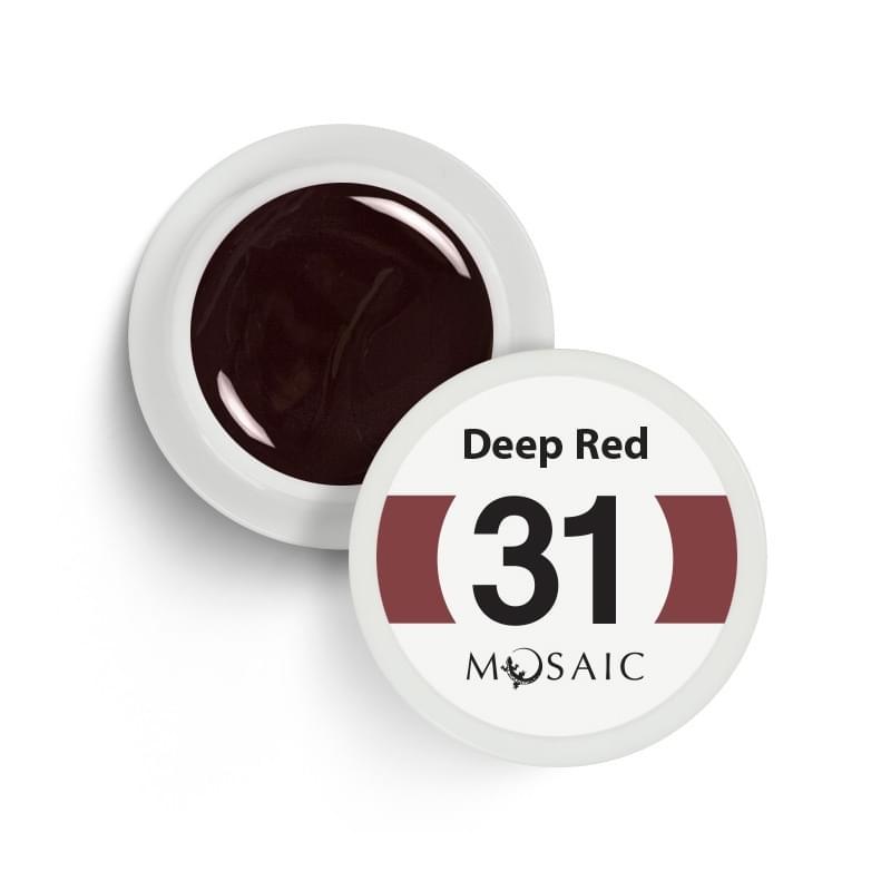 31. Deep red