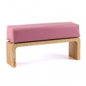 Pink hand cushion with wooden base