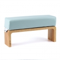 Mint hand cushion with wooden base