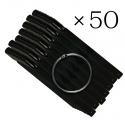 Типсы веер черные 50 шт