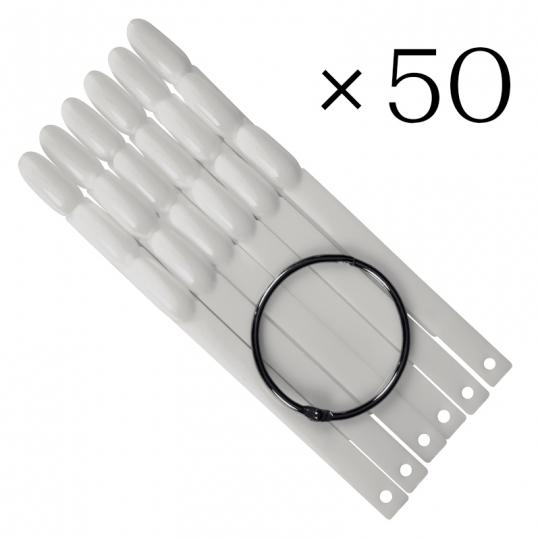 Tip sticks oval. 50 pcs