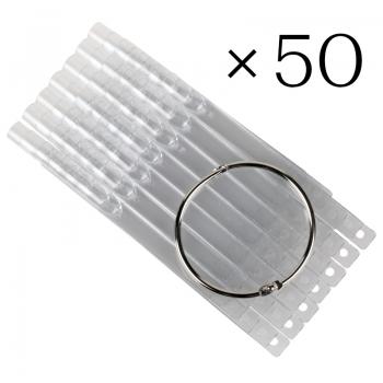 Tip sticks clear. 50 pcs