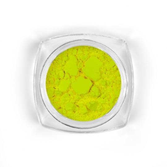 Yellow neon pigment